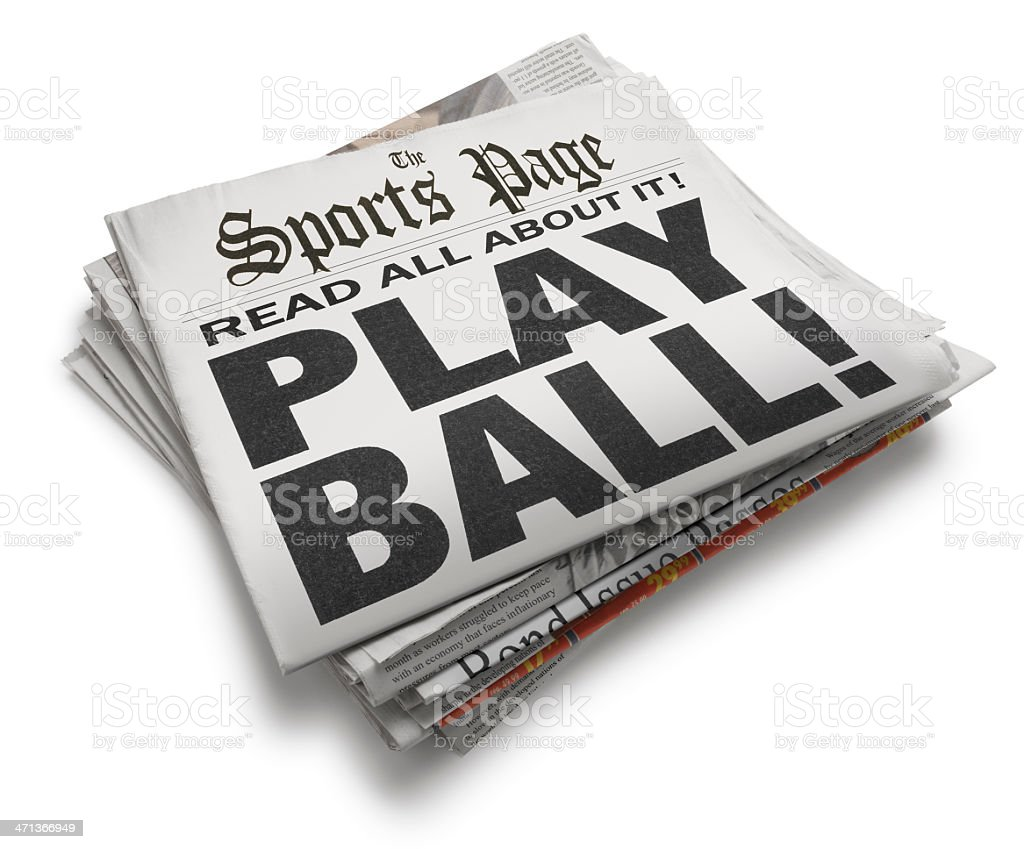 Play Ball! stock photo