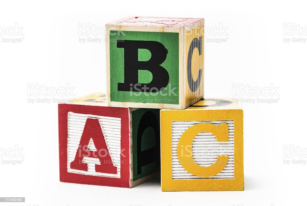 Play blocks stock photo