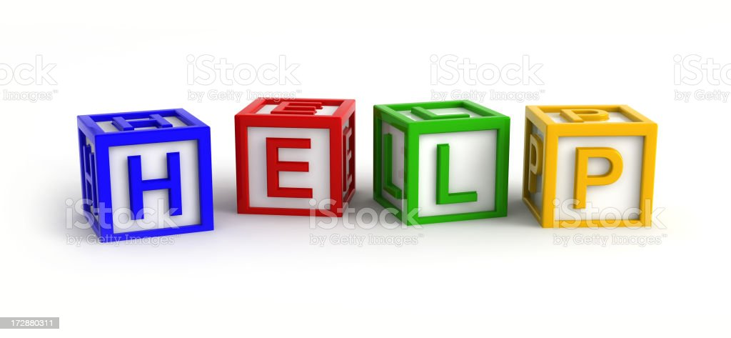 Play Blocks (HELP) royalty-free stock photo