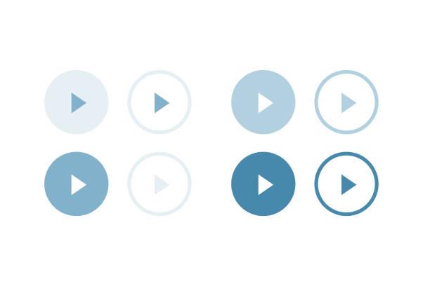 遊ぶブルーカラーシリーズボタン ストックフォト