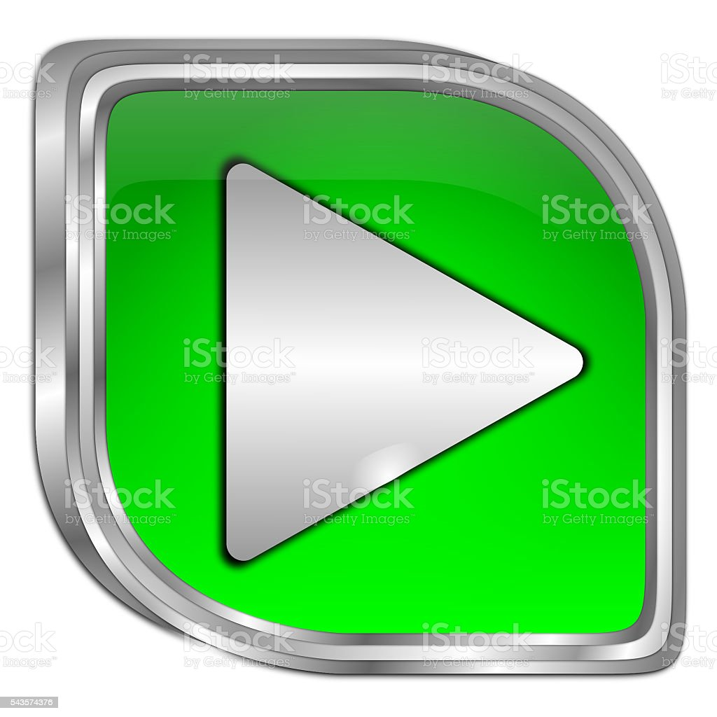 Play Button - 3D illustration stock photo