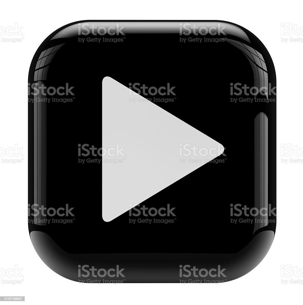 Icono botón de reproducción - foto de stock