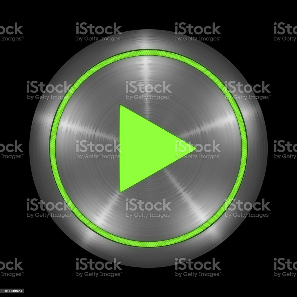 Botón de reproducción - foto de stock