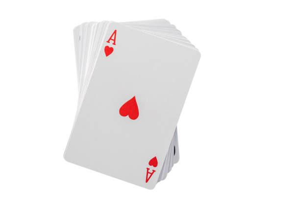 jugar carta - as aisladas sobre fondo blanco - set deportivo fotografías e imágenes de stock