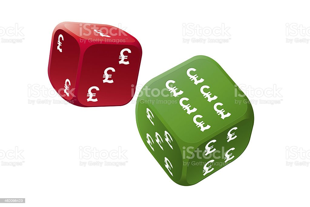 Play dice game with economy stock photo