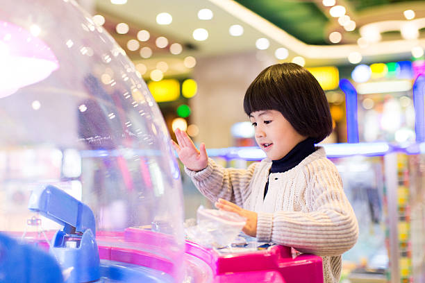 play games for chinese girls, kids game stock photo