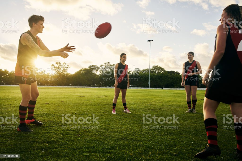 Play hard, smart and together stock photo