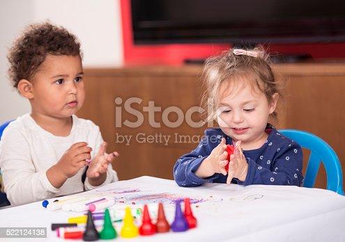 istock Play indoor activities for baby kids. 522124138