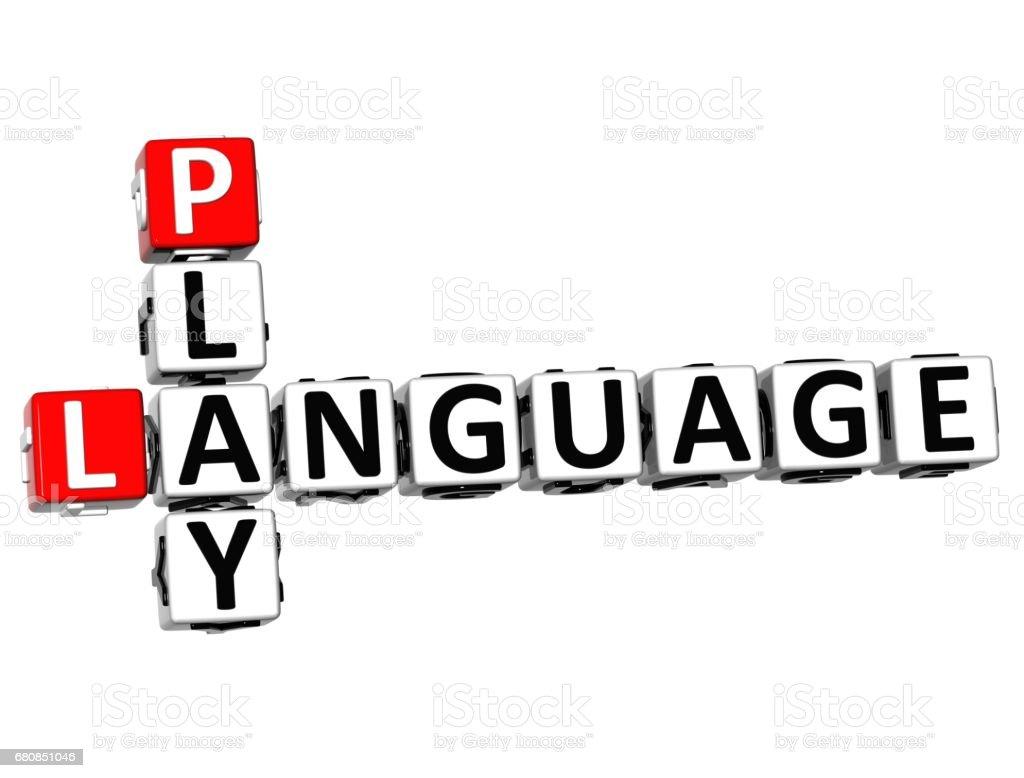 3D Play Language Crossword royalty-free stock photo