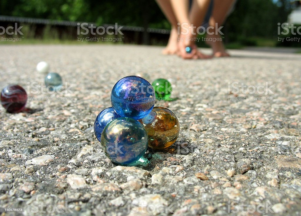 Play marbles 2 stock photo