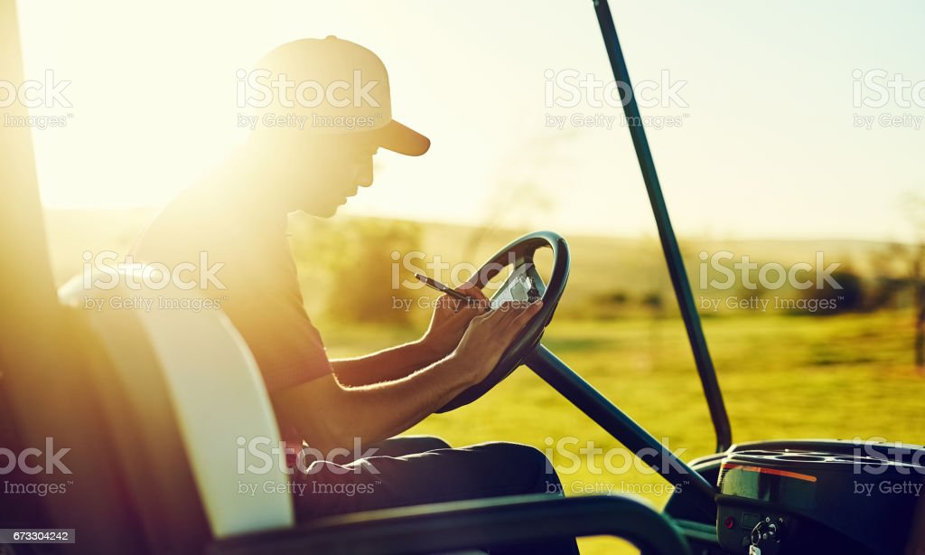 Play more, improve your score stock photo