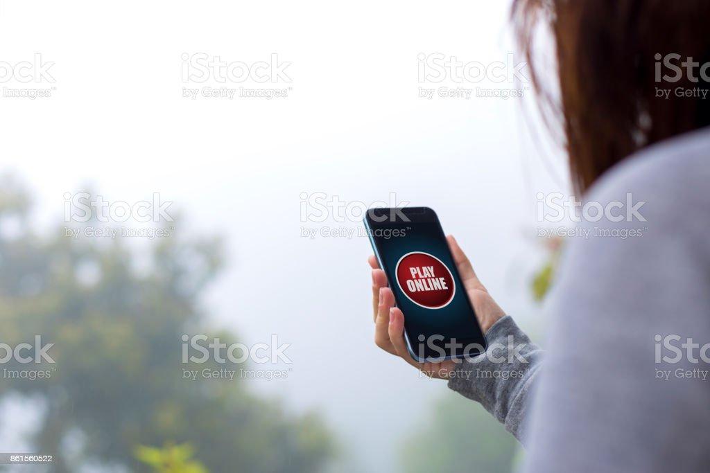 Play online stock photo