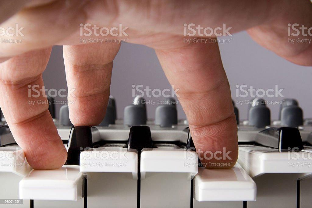 Play Piano Keys royalty-free stock photo