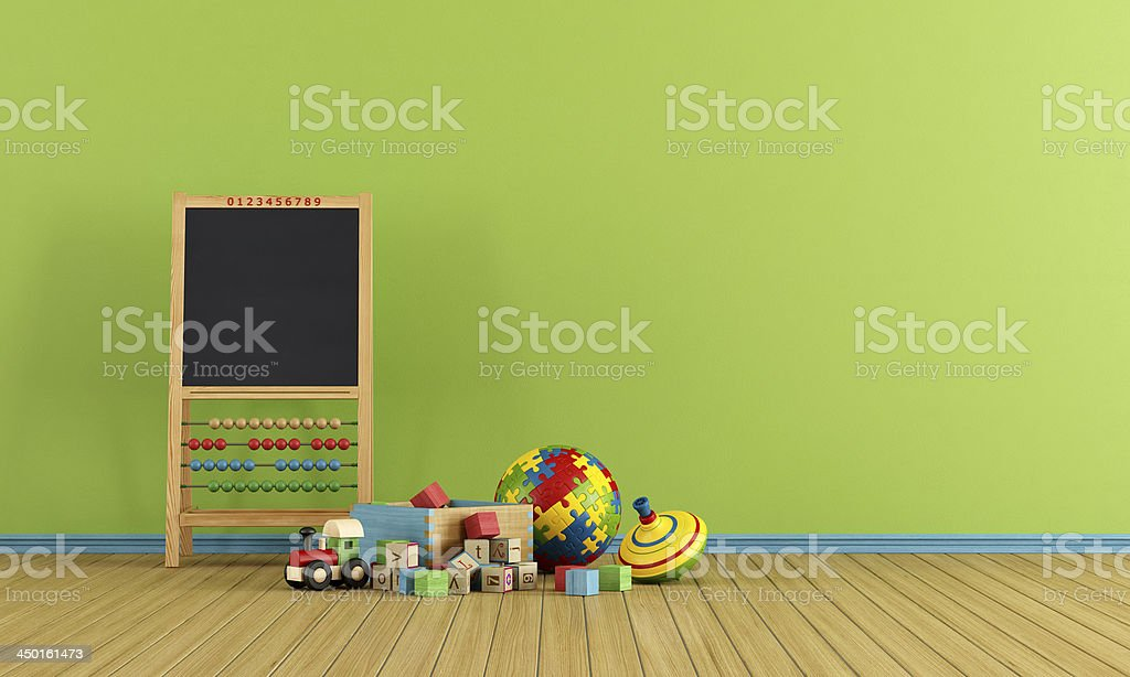 Play room with toys stock photo