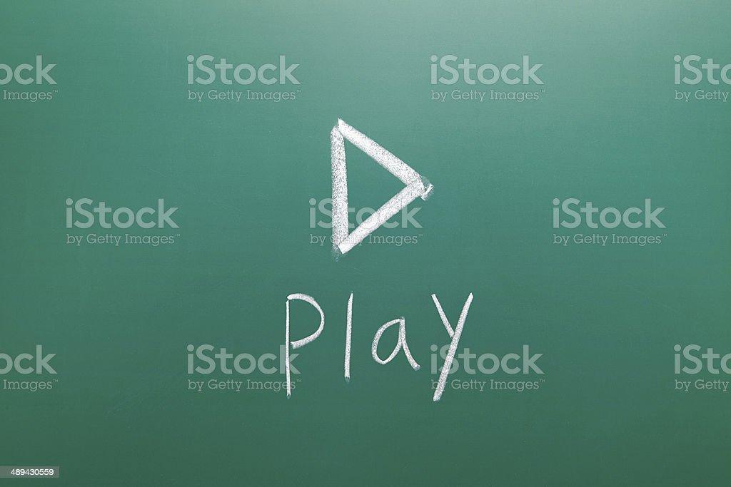 De jeu dessiné à la craie sur Tableau noir - Photo