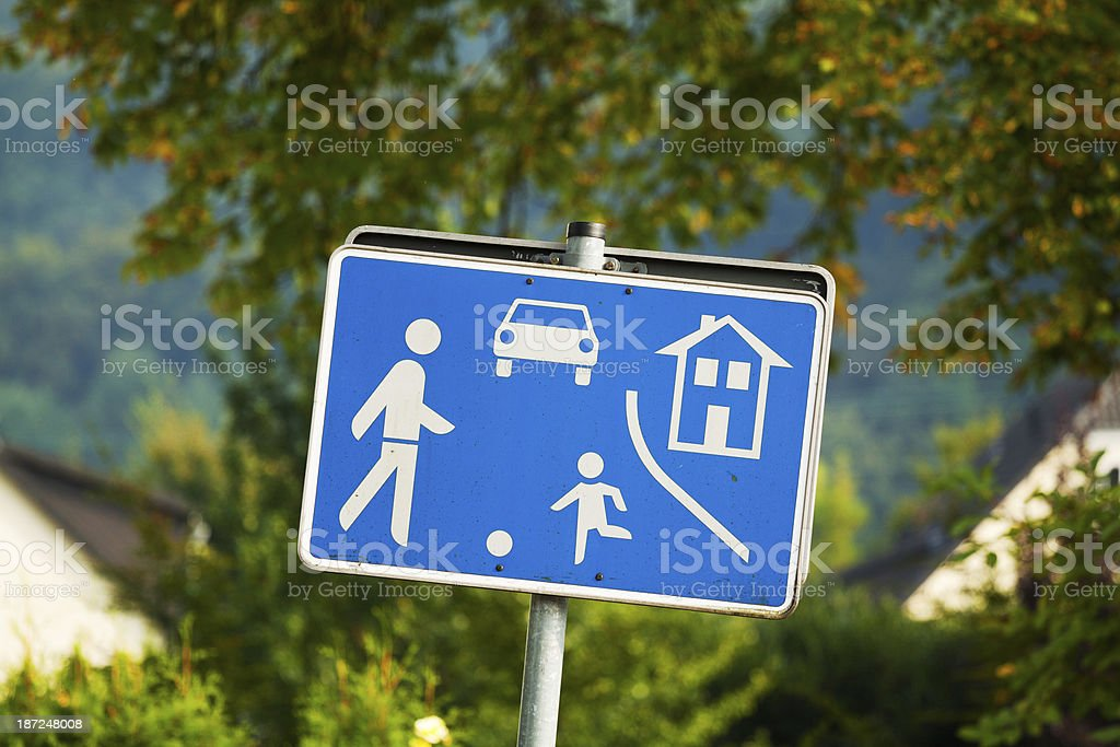Play street in residential estate royalty-free stock photo