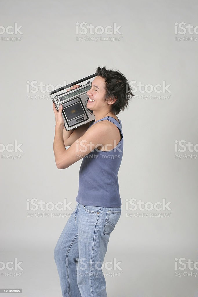 Play that funky music Mr. DJ royalty-free stock photo