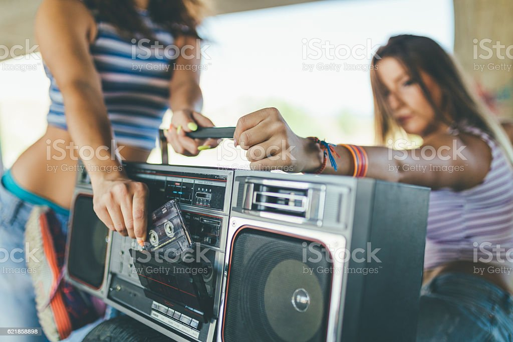 Play the tape! stock photo