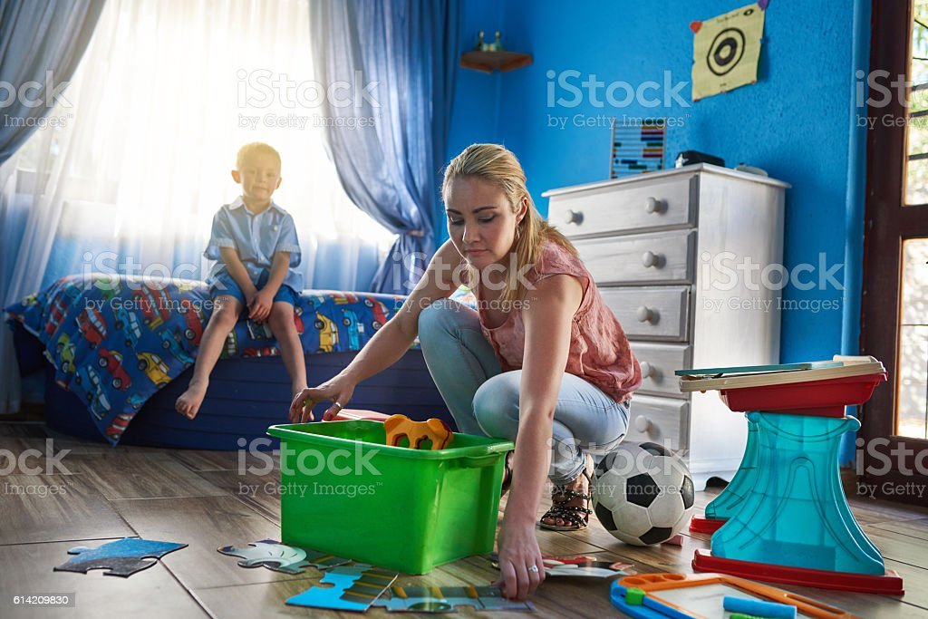 Play time is over stock photo