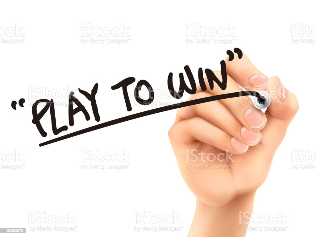 Play To Win Words Written By 3d Hand Stock Photo & More
