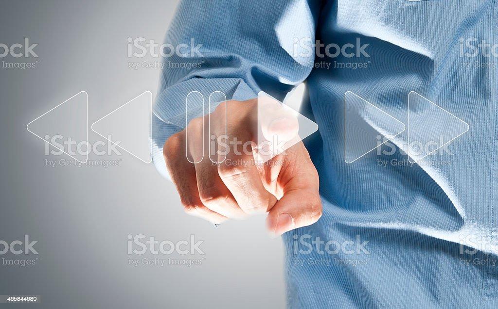 Juegue/pantalla táctil de concepto (Haga clic para obtener más información) - foto de stock