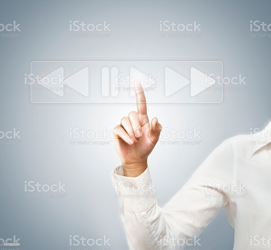 Play / Touch screen (Click for more) stock photo