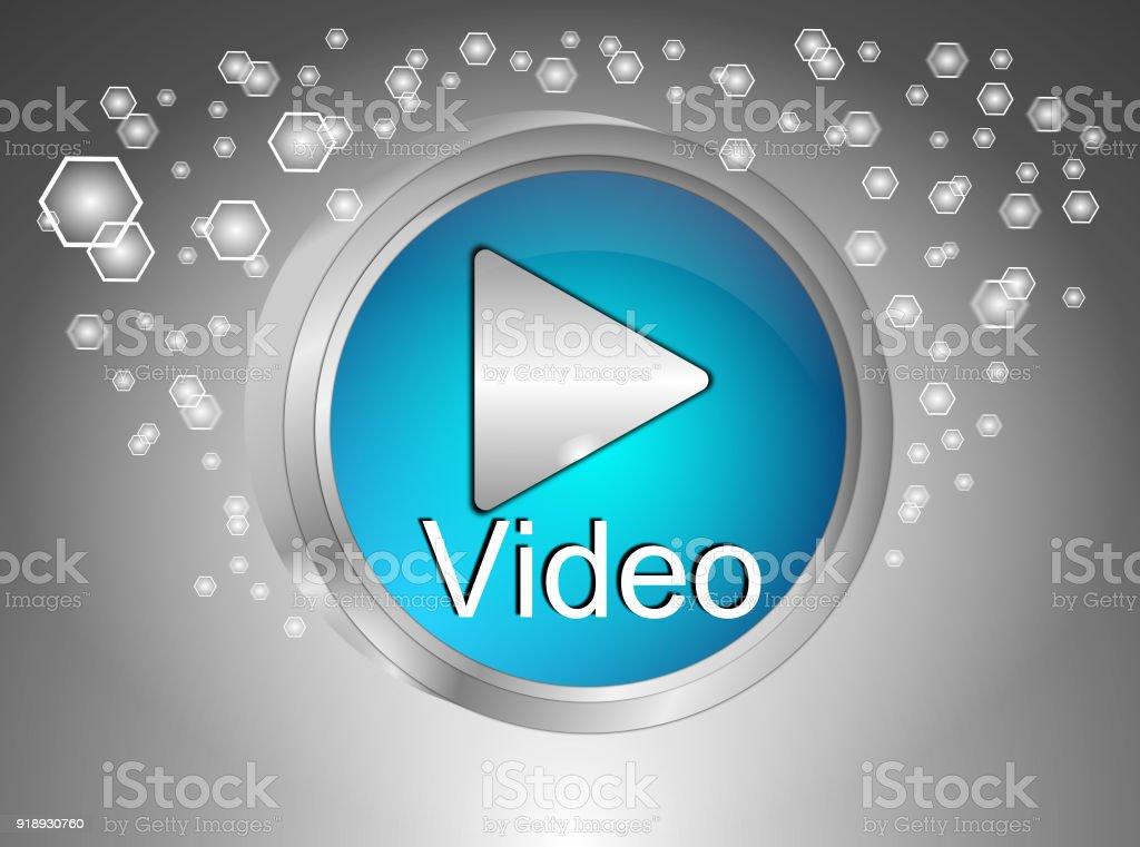 Reproducir vídeo botón - 3D ilustración - foto de stock