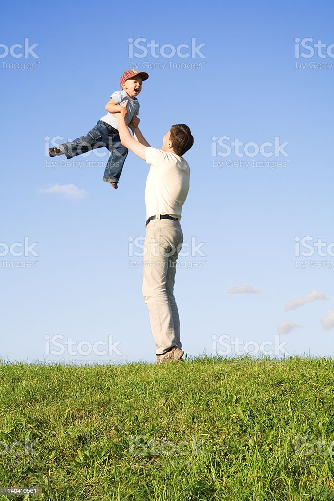 Play with father 5 royalty-free stock photo