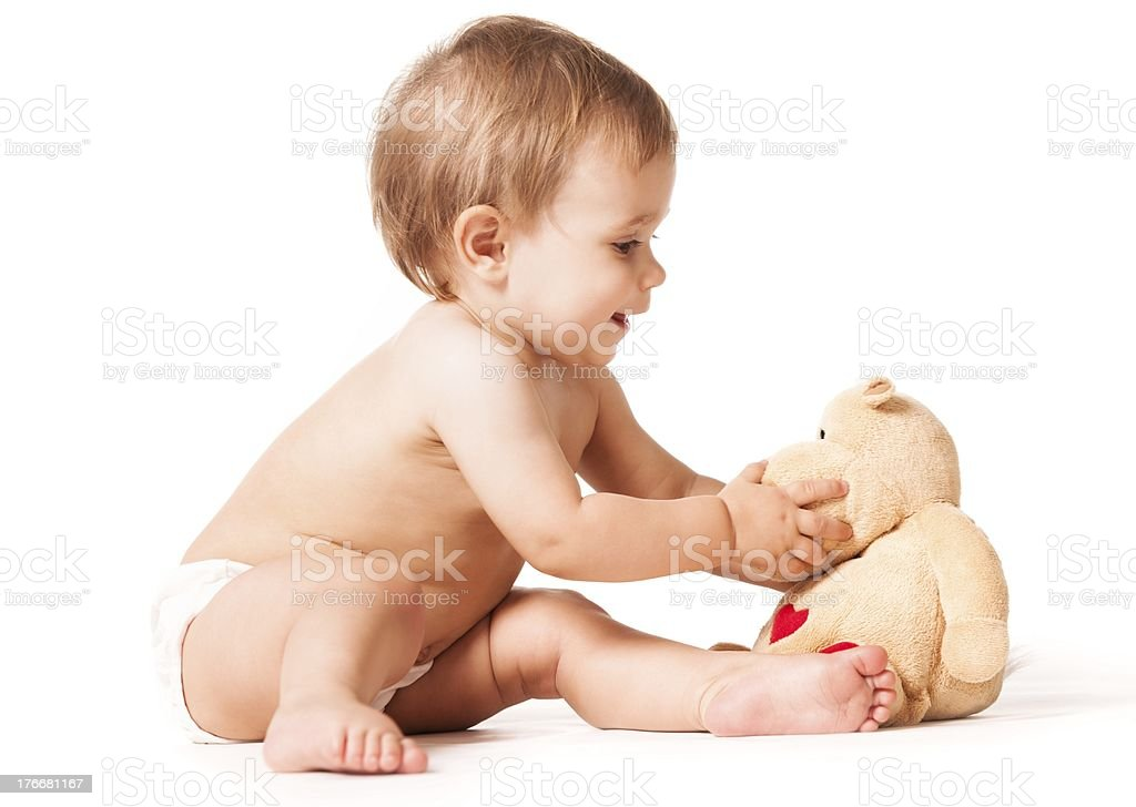 Play with toys royalty-free stock photo