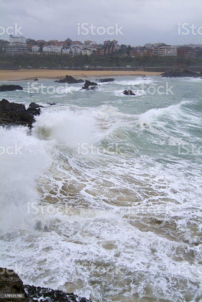 Playa de El camello. Santander. Cantabria. España. royalty-free stock photo