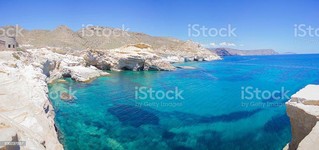 Playa de El Playazo en Almería stock photo