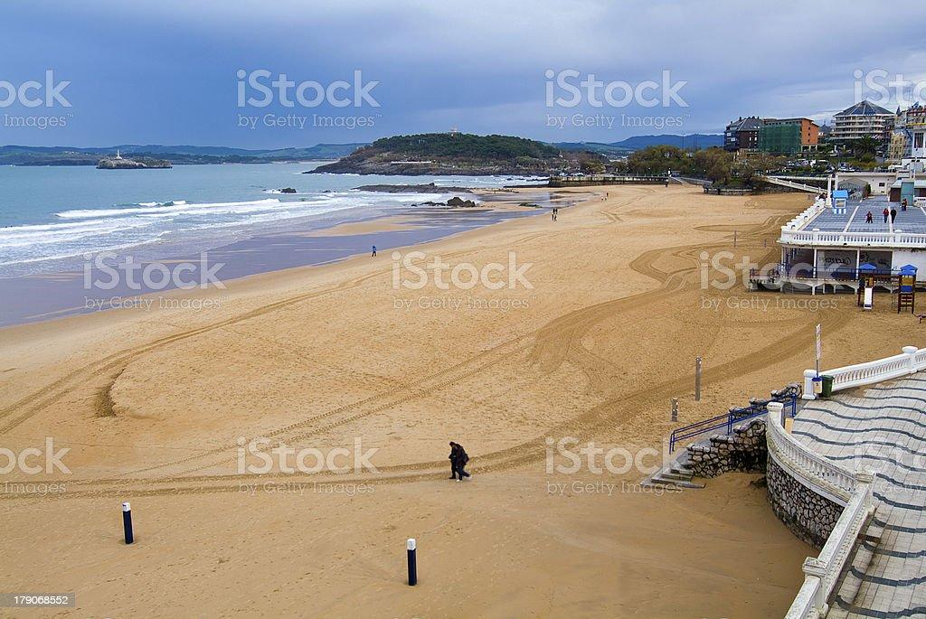 Playa de El Sardinero, Santander. Cantabria. España. royalty-free stock photo