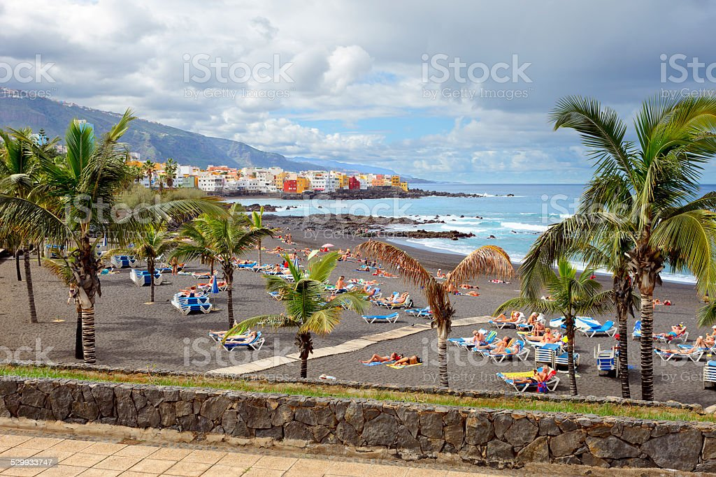 Playa de Jardin stock photo