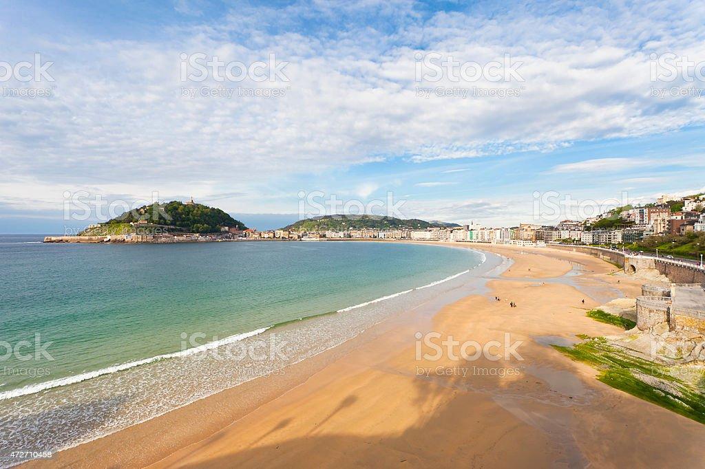 Playa de La Concha, San Sebastian stock photo