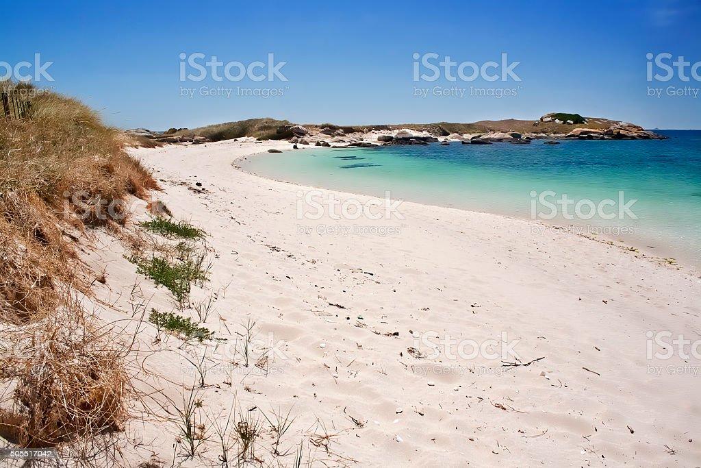 Playa de la isla de El Areoso - foto de stock