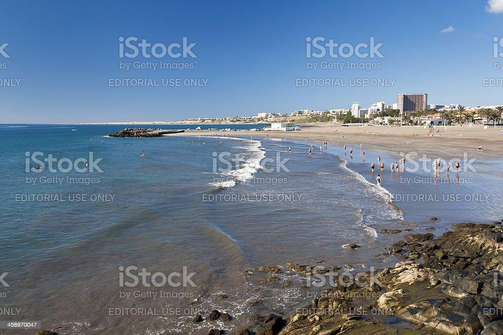 Playa de Las Burras In San Agustin, Gran Canaria stock photo