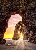 istock Playa de las Catedrales Cathedral beach in Galicia Spain 1302661563