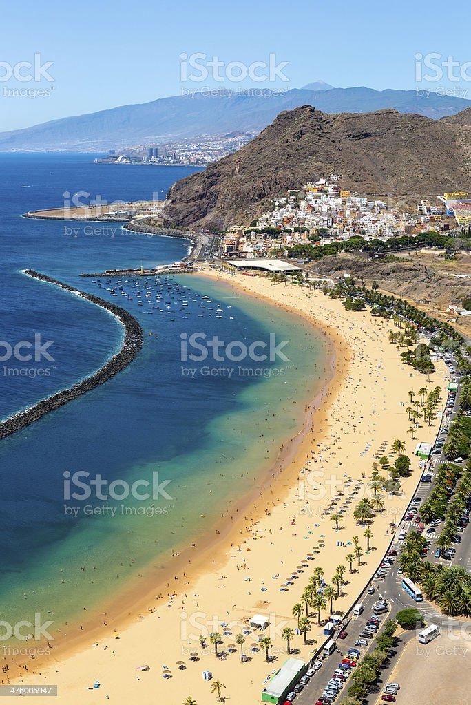 Playa de las Teresitas Beach, Tenerife, Canary Islands, Spain stock photo
