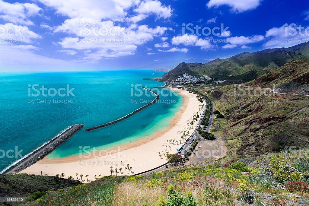 Playa de Las Teresitas general view stock photo