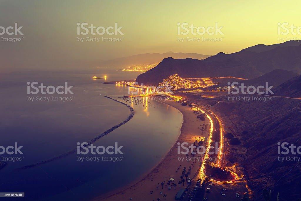 Playa de Las Teresitas in Tenerife stock photo
