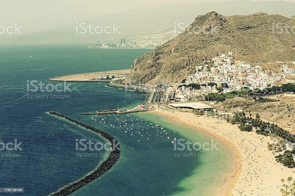 Playa de Las Teresitas stock photo
