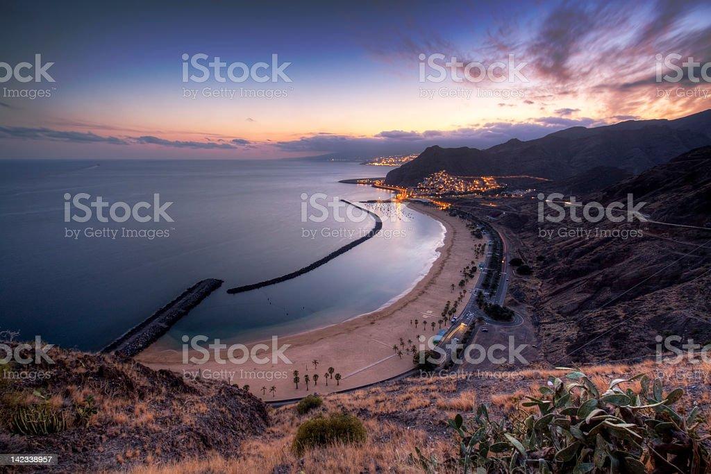 Playa de Las Teresitas, Tenerife royalty-free stock photo