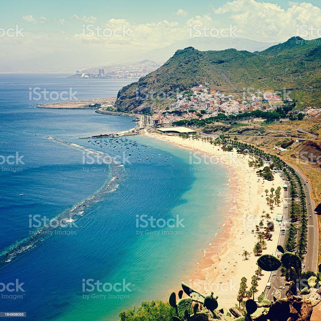 Playa de las Teresitas - Tenerife stock photo