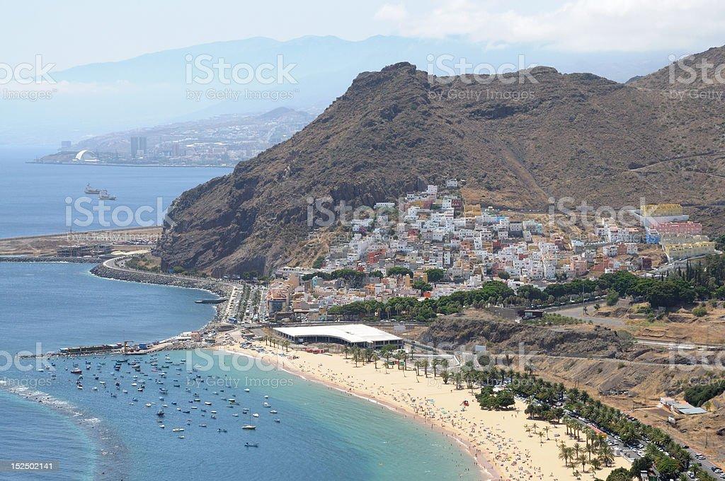 Playa de Las Teresitas,Tenerife stock photo