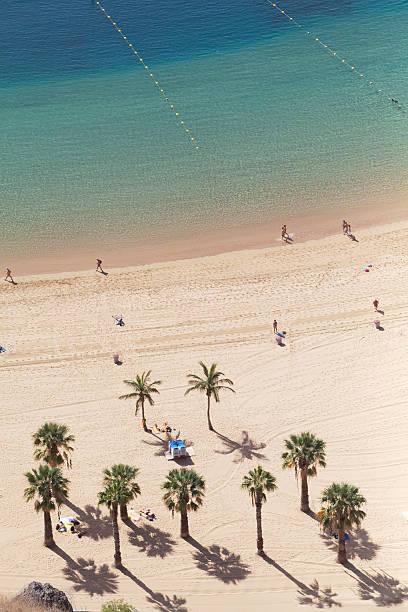 playa de les teresitas stock photo