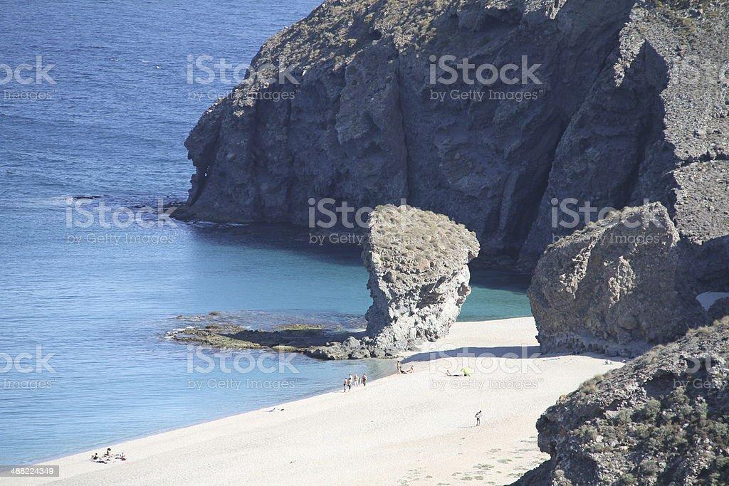 Playa de los Muertos stock photo