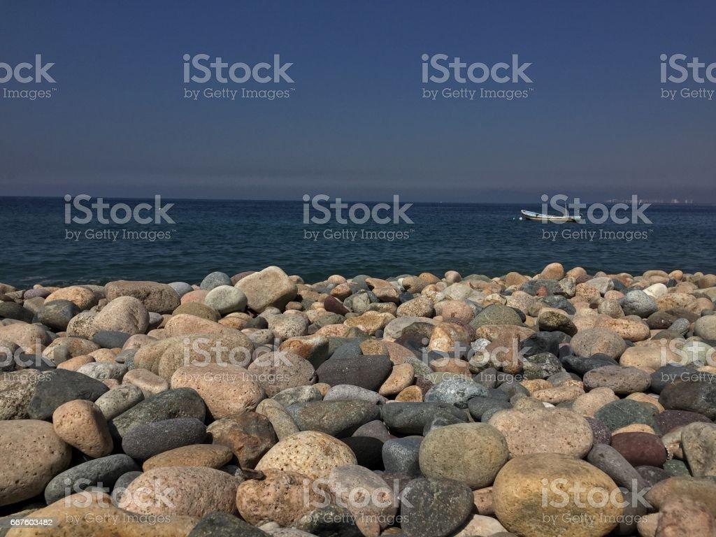 Playa de rocas stock photo