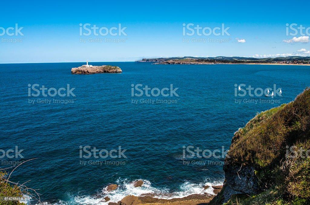 playa de santander stock photo