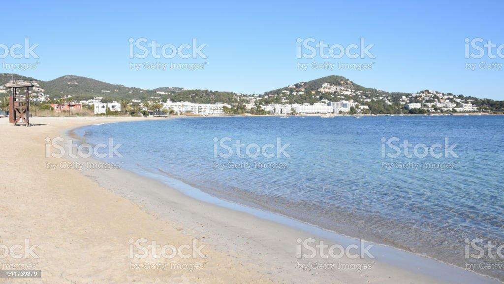 Playa de Talamanca Ibiza. royalty-free stock photo
