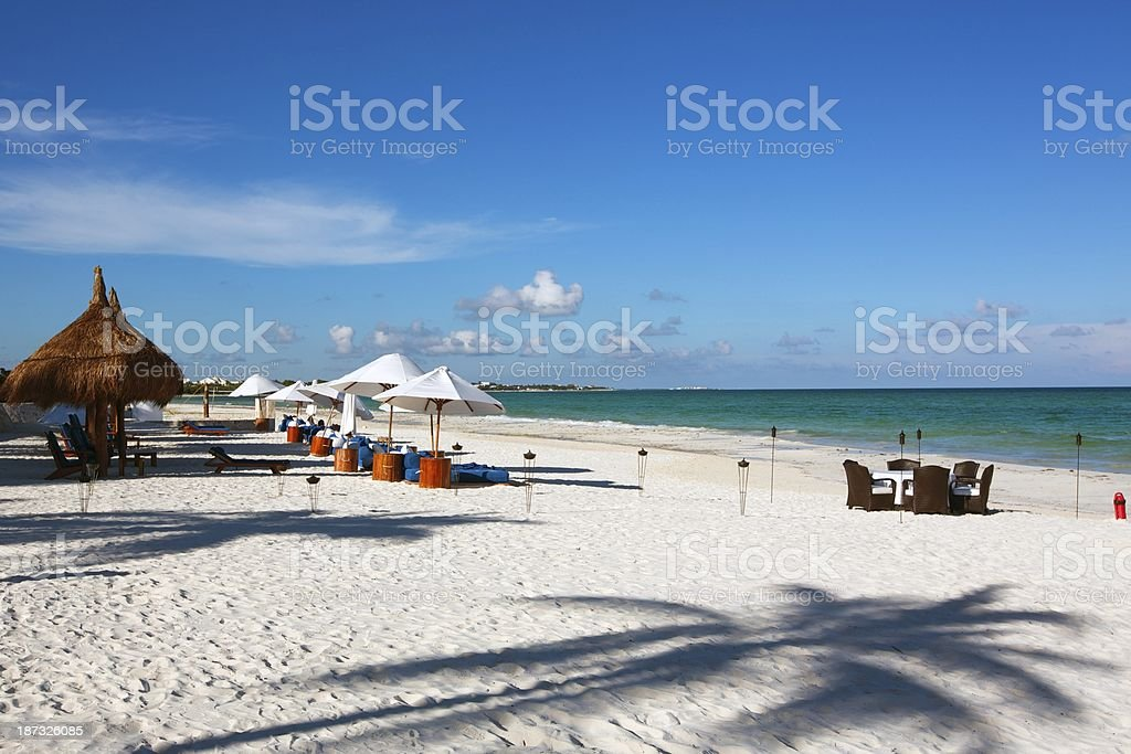 Playa Del Carmen beach royalty-free stock photo
